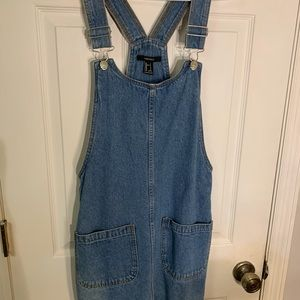 Forever 21 Denim Jumper Dress S